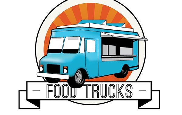Food truck clip art graphic for the L.A. Summer Camp Fair in Los Feliz.