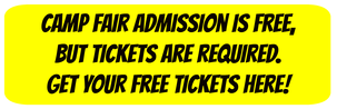 Yellow button with black text linking to the L.A. Summer Camp Fair 2018 free admission tickets web page.