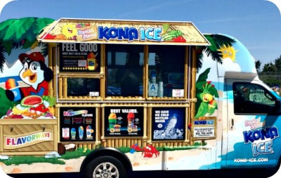 Kona Ice Shave Ice truck will be at the 2021 L.A. Camp Fair in Los Feliz