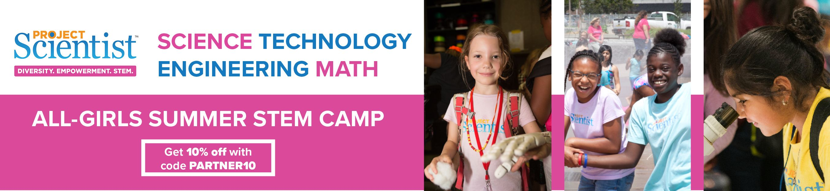 Project Scientist summer camp banner