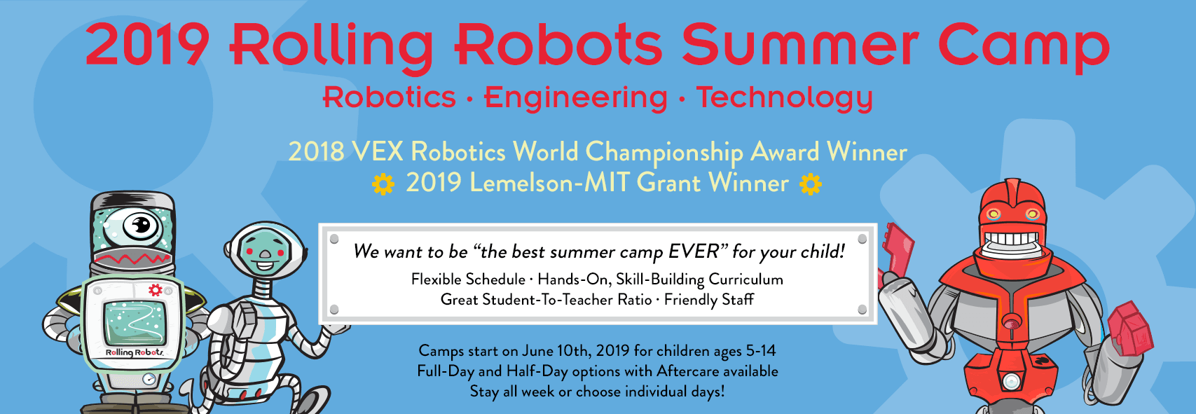 Rolling Robots summer camp 2019 promotional Picture
